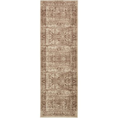 Yareli Brown/Cream Area Rug Rug Size: Runner 3 x 910