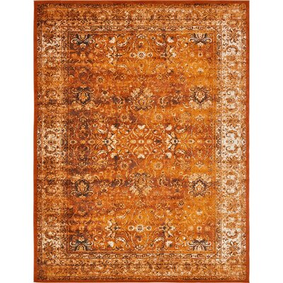 Yareli Terracotta/Orange Area Rug Rug Size: 13' x 19'8