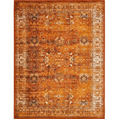 Yareli Terracotta/Orange Area Rug Rug Size: 10' x 13'