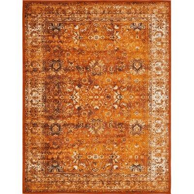 Yareli Terracotta/Orange Area Rug Rug Size: 10 x 13