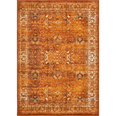 Yareli Terracotta/Orange Area Rug Rug Size: 8' x 11'6