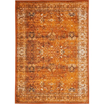 Yareli Terracotta/Orange Area Rug Rug Size: 7' x 10'