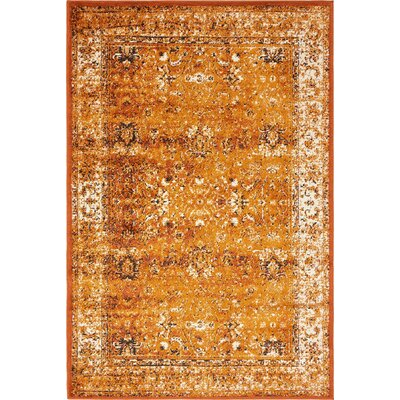 Yareli Terracotta/Orange Area Rug Rug Size: 4' x 6'