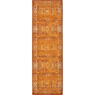Yareli Terracotta/Orange Area Rug Rug Size: Runner 3 x 910