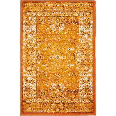 Yareli Terracotta/Orange Area Rug Rug Size: 2' x 6'