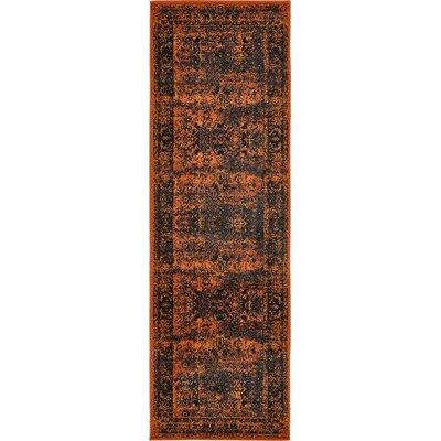 Yareli Terracotta/Black Area Rug Rug Size: Runner 3 x 910