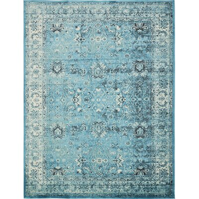 Neuilly Blue Area Rug Rug Size: Rectangle 5 x 8