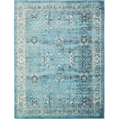 Yareli Blue/Ivory Area Rug Rug Size: 10' x 13'