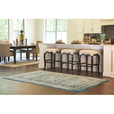 Neuilly Blue Area Rug Rug Size: 5 x 8