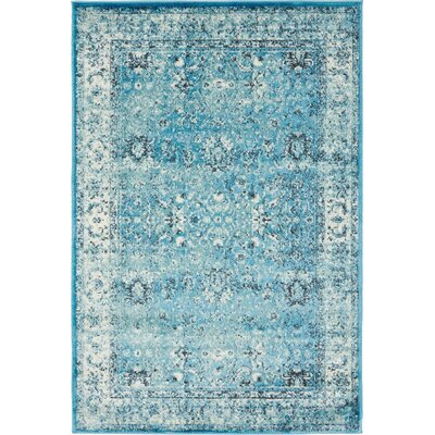 Neuilly Blue Area Rug Rug Size: 4 x 6