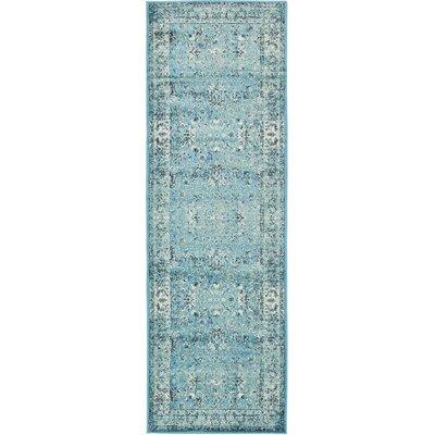 Yareli Blue/Ivory Area Rug Rug Size: Runner 3' x 9'10
