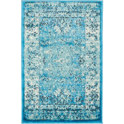 Neuilly Blue Area Rug Rug Size: 2 x 3