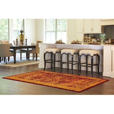 Neuilly Red/Orange Area Rug Rug Size: Rectangle 4 x 6