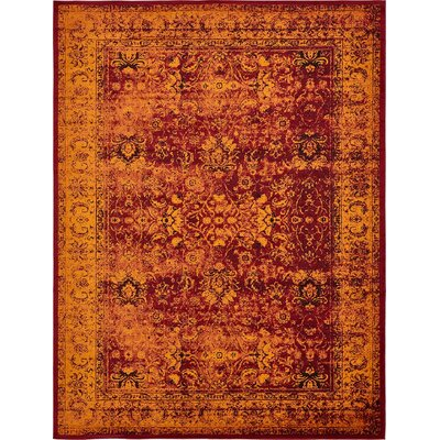 Yareli Red/Orange Area Rug Rug Size: 13 x 198