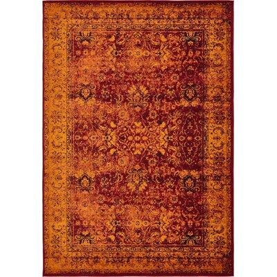 Yareli Red/Orange Area Rug Rug Size: 8 x 116