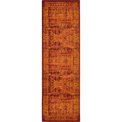 Yareli Red/Orange Area Rug Rug Size: Runner 3 x 910