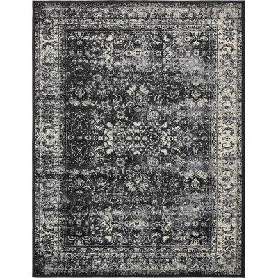 Yareli Light Gray/Black Area Rug Rug Size: 13 x 198