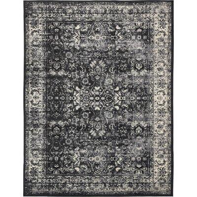 Yareli Light Gray/Black Area Rug Rug Size: 10 x 13
