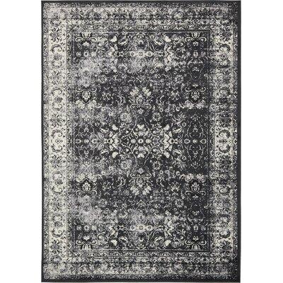 Yareli Light Gray/Black Area Rug Rug Size: 8 x 116