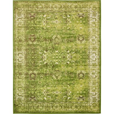 Yareli Green/Ivory Area Rug Rug Size: 10 x 13