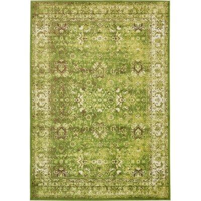 Yareli Green/Ivory Area Rug Rug Size: 8 x 116