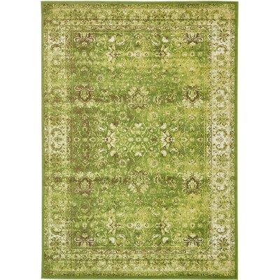 Yareli Green/Ivory Area Rug Rug Size: 7' x 10'