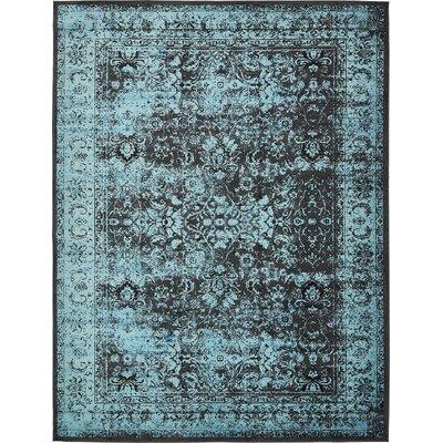 Yareli Blue/Black Area Rug Rug Size: 10' x 13'