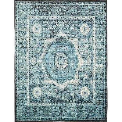 Yareli Blue/Black Area Rug Rug Size: 10 x 13
