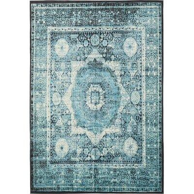 Yareli Blue/Black Area Rug Rug Size: 8 x 116