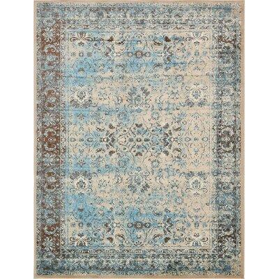 Yareli Blue/Beige Area Rug Rug Size: 13 x 198