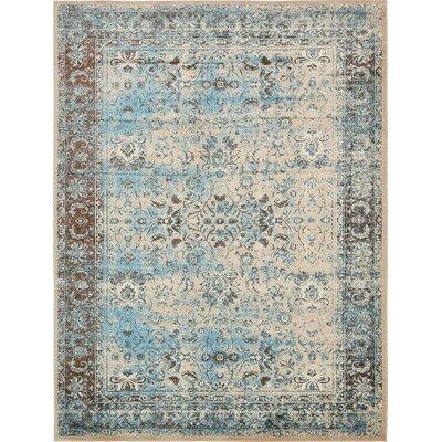 Yareli Blue/Beige Area Rug Rug Size: 10' x 13'