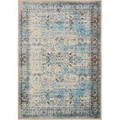 Yareli Blue/Beige Area Rug Rug Size: 8 x 116