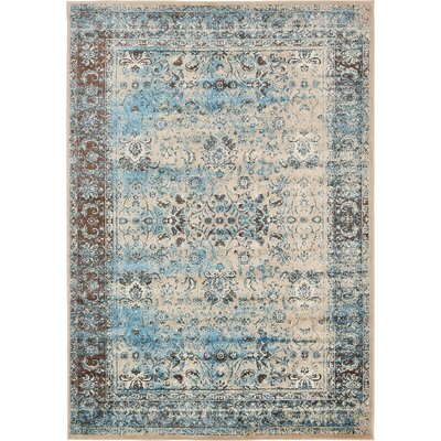 Yareli Blue/Beige Area Rug Rug Size: 7 x 10
