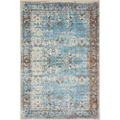 Yareli Blue/Beige Area Rug Rug Size: 4 x 6