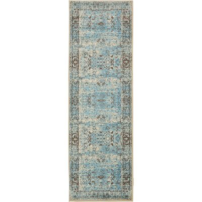 Yareli Blue/Beige Area Rug Rug Size: Runner 3' x 9'10