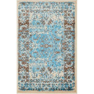 Yareli Blue/Beige Area Rug Rug Size: 2 x 3