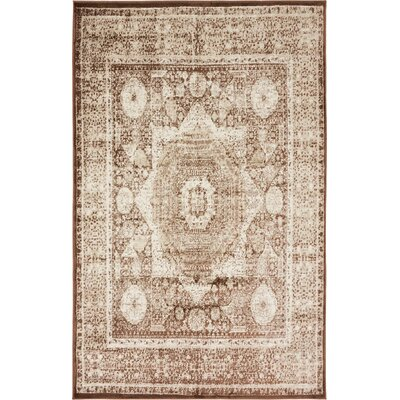 Yareli Brown/Beige Area Rug Rug Size: 5 x 8
