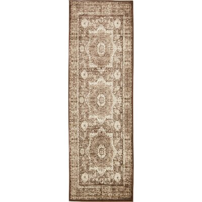 Yareli Brown/Beige Area Rug Rug Size: Rectangle 10 x 13