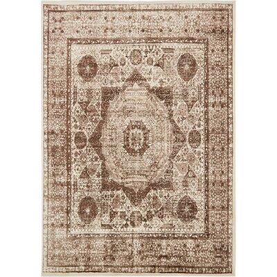 Yareli Beige/Brown Area Rug Rug Size: 7 x 10