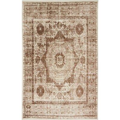 Yareli Beige/Brown Area Rug Rug Size: 5 x 8