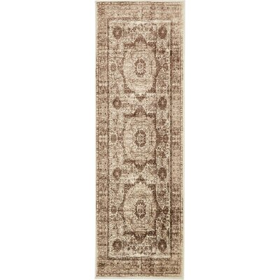 Yareli Beige/Brown Area Rug Rug Size: Runner 3 x 91