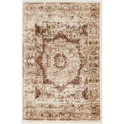 Yareli Beige/Brown Area Rug Rug Size: 2 x 6