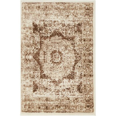 Yareli Beige/Brown Area Rug