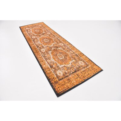 Bolton Ivory/Orange Area Rug Rug Size: Rectangle 4 x 6