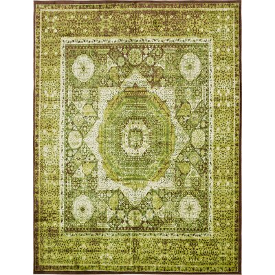 Yareli Green/Brown Area Rug Rug Size: 13' x 19'8