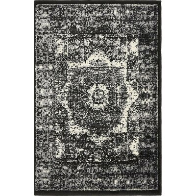 Yareli Gray/Black Area Rug Rug Size: 2 x 3