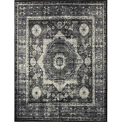 Yareli Gray/Black Area Rug Rug Size: 13 x 198
