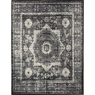 Yareli Gray/Black Area Rug Rug Size: 10 x 13
