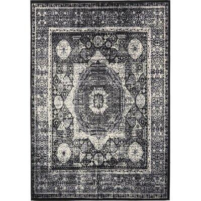 Yareli Gray/Black Area Rug Rug Size: 8 x 116