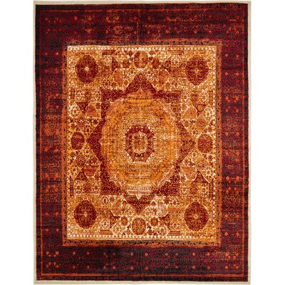Yareli Orange/Red Area Rug Rug Size: 13 x 198